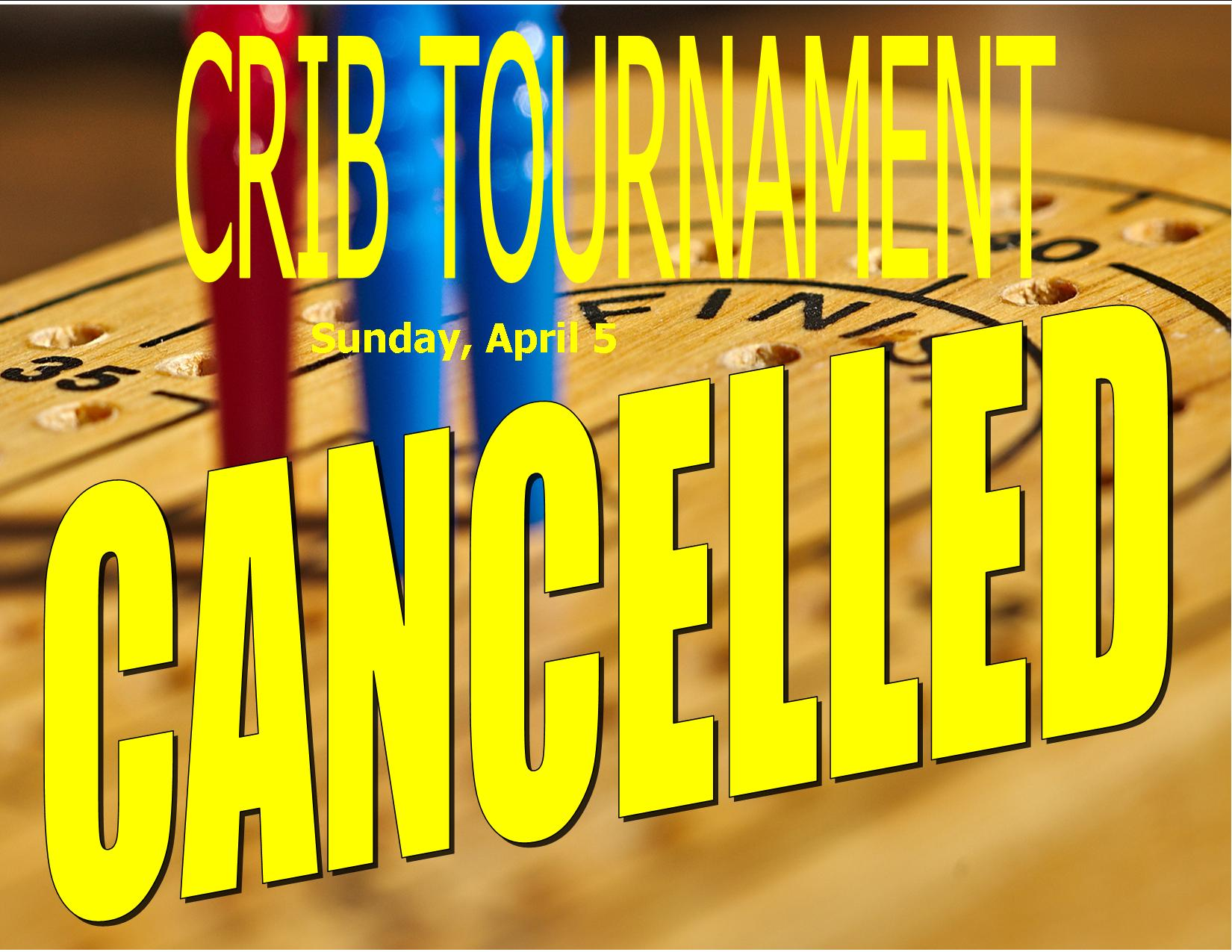 crib tourney Oct 2019 CANCELLED