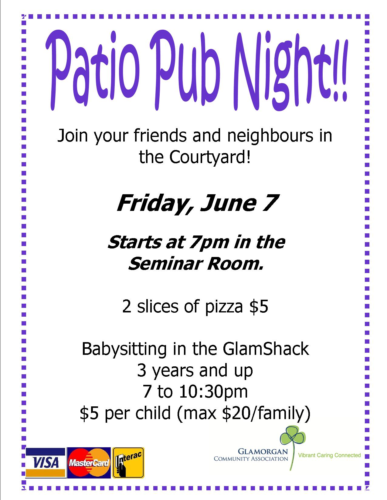 patio pub night